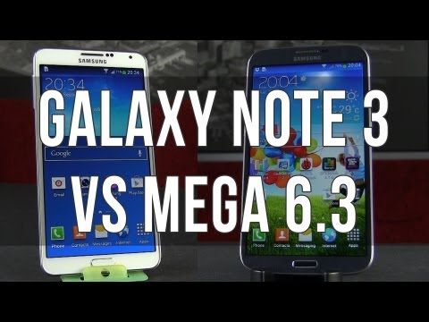 Samsung Galaxy Note 3 vs Samsung Galaxy Mega 6.3 comparison