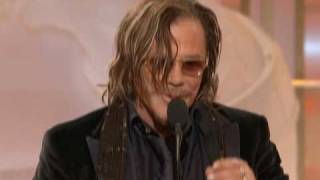 Mickey Rourke Wins Best Actor Motion Picture Drama - Golden Globes 2009
