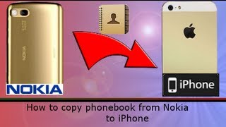[How to] copy Nokia phonebook contacts into iPhone