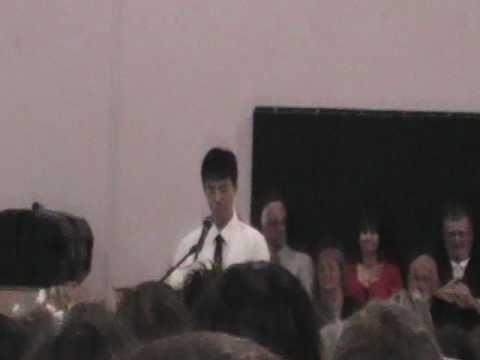 Jooan Choe's Peterson Middle School Graduation speech
