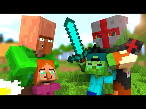 Zombie vs Villager Life 2 - Craftronix Minecraft Animation