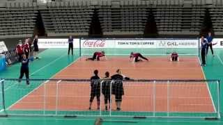 Germany vs Great Britain 1st half (Seoul 2015 IBSA Goalball World Games)