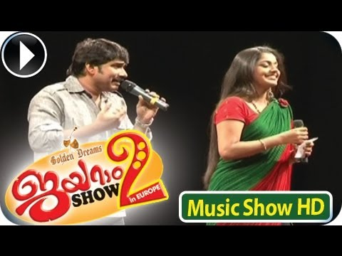 Afsal & Meera Nandan - Singing Song -  Anuraga Vilochananayi...