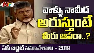 Chandrababu Naidu Fires On Speaker Tammineni Sitaram | AP Assembly Budget Sessions 2019 | NTV