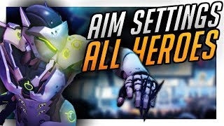 NEW Best Aim Settings Console: ALL HEROES - Improve Aim! | PS4/Xbox Overwatch