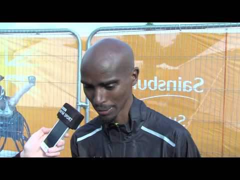 Mo Farah sets a two-mile British record at the Sainsbury's Birmingham Grand Prix