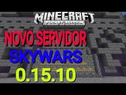 Novo server de skywars !!!! igual a de PC?!!!!