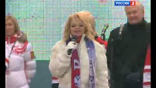 Anthem of Canada on Moscow Red Square
