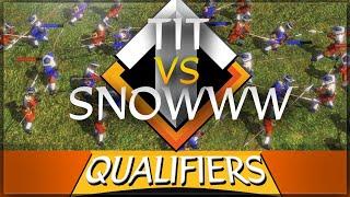 ⚔️🌟 AoE3 NWC QUALIFICATION SERIES: Snowww vs Tit (winner goes to LAN)