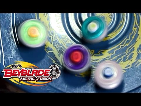 Beyblade Battle Royal #3 Rock Leone Vs Lightning L Drago Vs Earth Eagle Vs Flame Libra! video