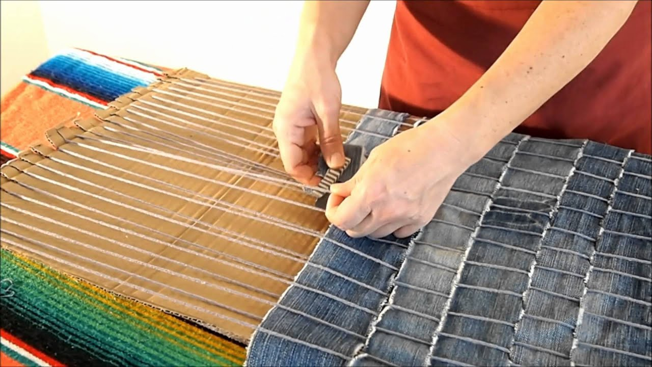 Diy How To Make A Carpet Recycling Old Jeans