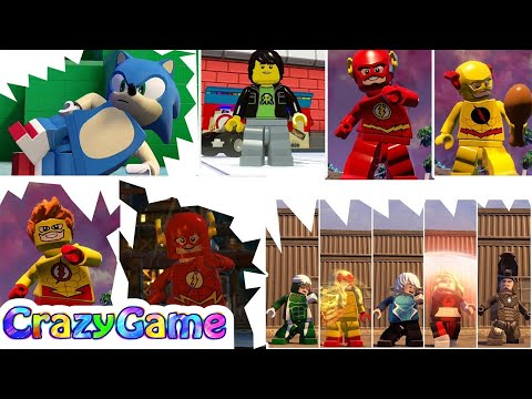 All Speedsters (Flash, Sonic, Kid Flash, Reverse Flash, Quicksliver, etc...) - #LEGO Videogames