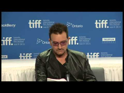 Bono &amp; The Edge U2 TIFF Press Conference From The Sky Down 2011 Davis Guggenheim