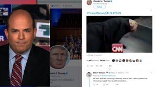 Trump posts anti-CNN video on Twitter