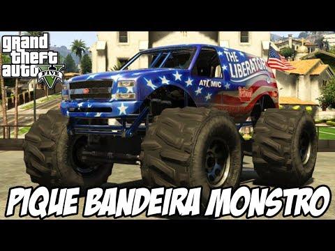 GTA V - Pique Bandeira na Montanha com Caminhões Monstro MISSÃO NOVA