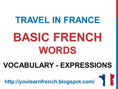 French Lesson 186 - Basic French everyday words phrases expr