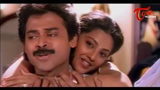 Meena Trails to Attract Venkatesh || Best Romtic Scene of Tollywood #21