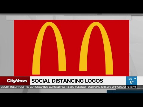 Large corporations reminding you to social distance