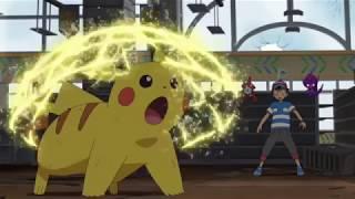 Pikachu Vs Mimikyu - Pokemon Sun and Moon Anime Episode 76 (SM076) English Subbed