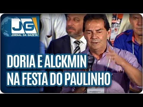 Alckmin e Doria na festa do Paulinho