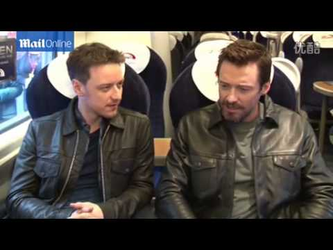 Hugh Jackman gets James McAvoy laughing during interview