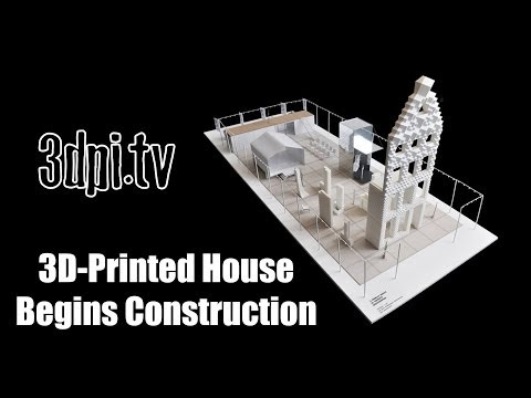 استخدام الطباعة ثُلاثية الأبعاد لبناء منزل بالقياس الكامل