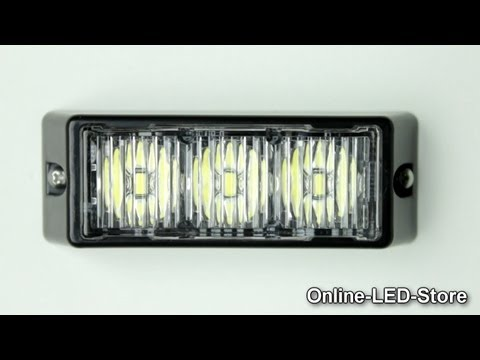 LAMPHUS® SolarBlast™ 3W LED Emergency Vehicle Strobe Warning Light Head Demo Video