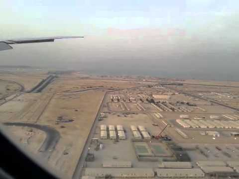 Qatar Airways landing in Doha