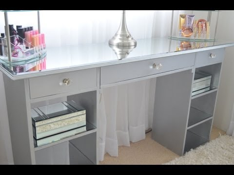 DIY Mirrored Vanity - YouTube