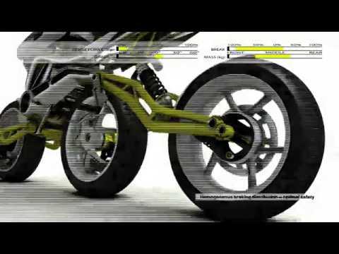ภิวัตกรรม มอเตอร์ไซค์ 3ล้อเรียงแถว 3D