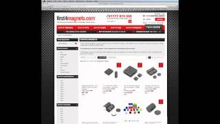 first4magnets.com - Guide to using our website navigation system