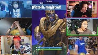 Reacción De Youtubers Ante Thanos Rubius Fernanfloo Willy Rex Luzu Alexby Grefg Folagor