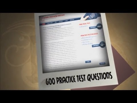 Canadian Citizenship Test   600 Practice Questions And Answers Video