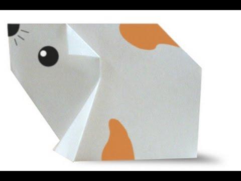 Как сделать хомяка из бумаги
