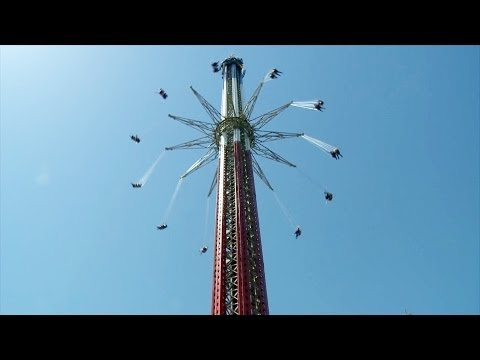 Sky Screamer Worlds Tallest Swing Ride Six Flags New England Pov And Off-ride video