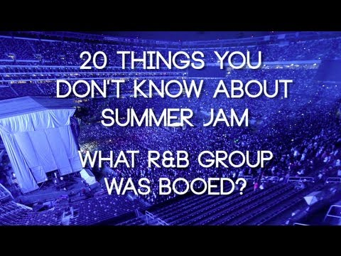What R&B group got booed at Summer Jam?