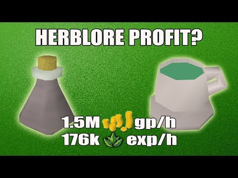 [Runescape 3] Making Guthix Rest potions | Herblore Profit? | Money Making?