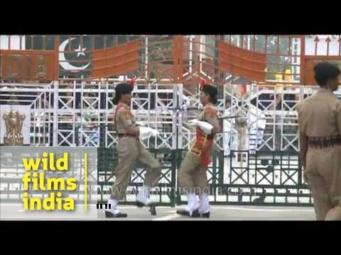 India-pakistan Wagah Border And Amusing Display Of One-upmanship! video
