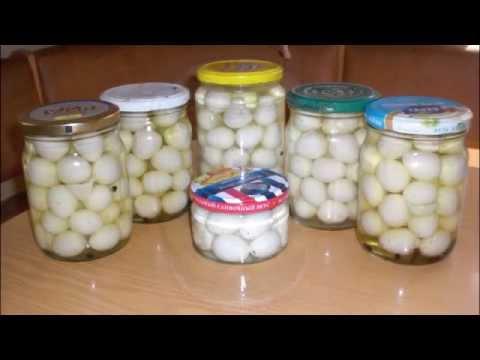 Маринованные перепелиные яйца.