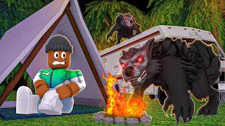 I ran into a SCARY WEREWOLF on my Roblox Road Trip! (CAMPING PART 14)