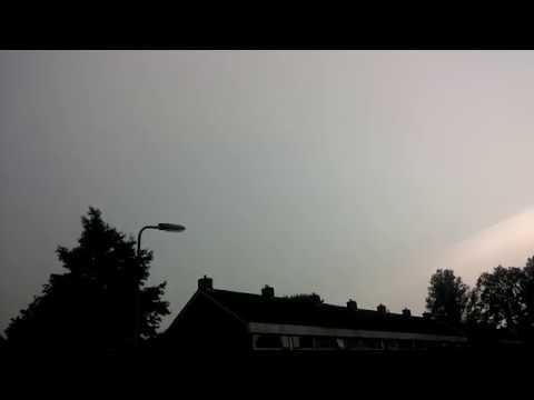 Onweer 22 juni 2017 in Dokkum thuis locatie.