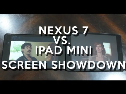 NEW Nexus 7 Screen Showdown Vs. iPad Mini