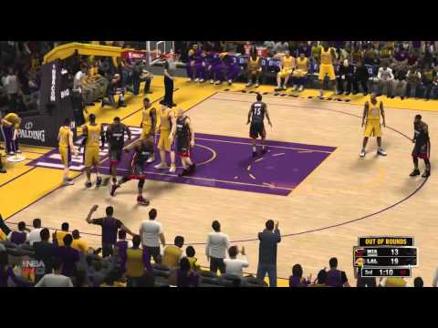 NBA 2K13 Gameplay: LA Lakers vs Miami Heat (Xbox 360/PS3/PSP/PC)
