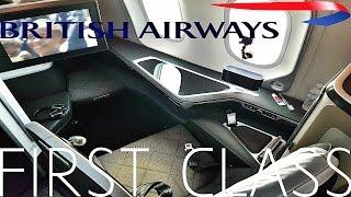 British Airways FIRST CLASS Austin to London|787-9 Dreamliner