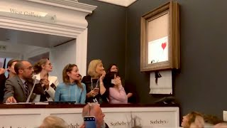 Banksy Reveals Painting Shredding Did Not Work Properly