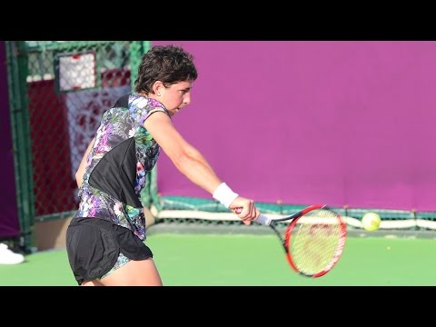 2016 Qatar Total Open Round of 16 | Carla Suarez Navarro vs Timea Bacsinszky | WTA Highlights