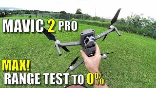 DJI Mavic 2 PRO MAXIMUM Range Test - How Far Until 0% Battery?