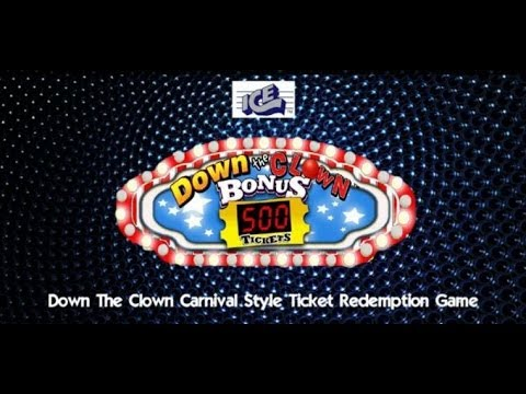 Down The Clown Arcade Ticket Redemption Game - BOSA 2014 Silver Award - BMIGaming - ICE Games