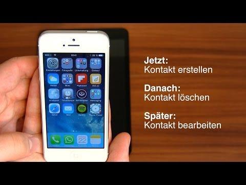 iPhone und iPad Tipp des Tages - Kontakte erstellen. Foto hinzufügen. löschen (Anleitung)