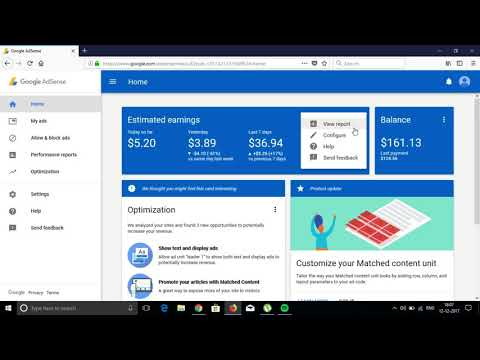 adsense earning report november 2017 || how to earn 1000$ per month ||